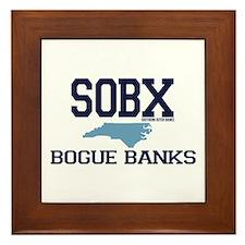Bogue Banks NC - Map Design Framed Tile