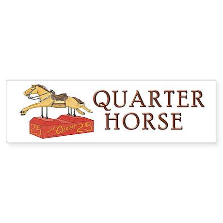 """QUARTER HORSE"" Sticker (Bumper)"