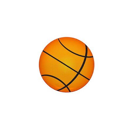 Basketball Mini Button (100 pack)