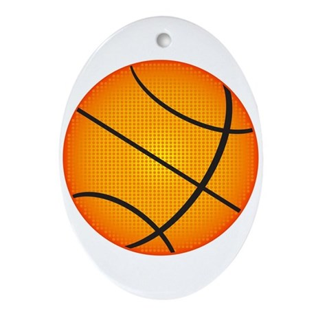 Basketball Ornament (Oval)