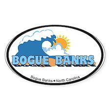 Bogue Banks NC - Waves Design Decal