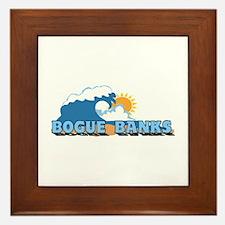 Bogue Banks NC - Waves Design Framed Tile