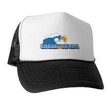Bogue Banks NC - Waves Design Trucker Hat