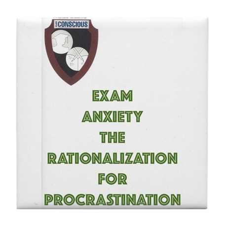 Exam Anxiety-green Tile Coaster