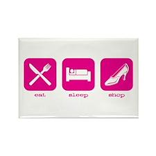 Eat, sleep, shop Rectangle Magnet