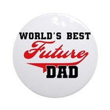 World's Best Future Dad Ornament (Round)