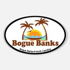 Bogue Banks NC - Palm Trees Design Decal