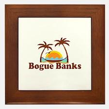 Bogue Banks NC - Palm Trees Design Framed Tile