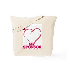 I LOVE MY SPONSOR Tote Bag
