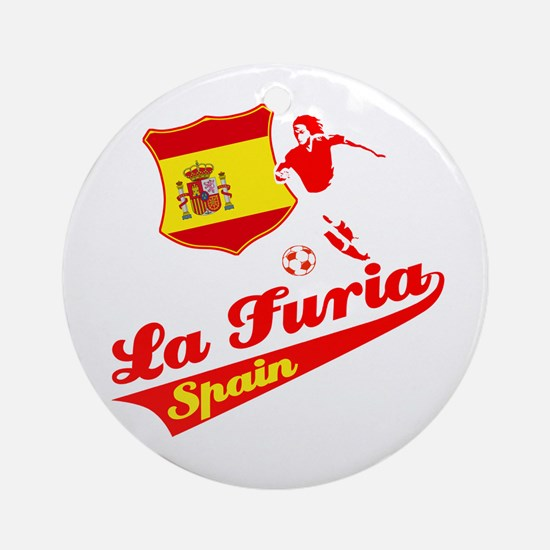 Spanish soccer Ornament (Round)