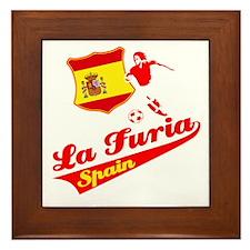 Spanish soccer Framed Tile