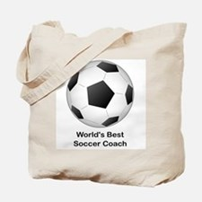 World's Best Soccer Coach Tote Bag