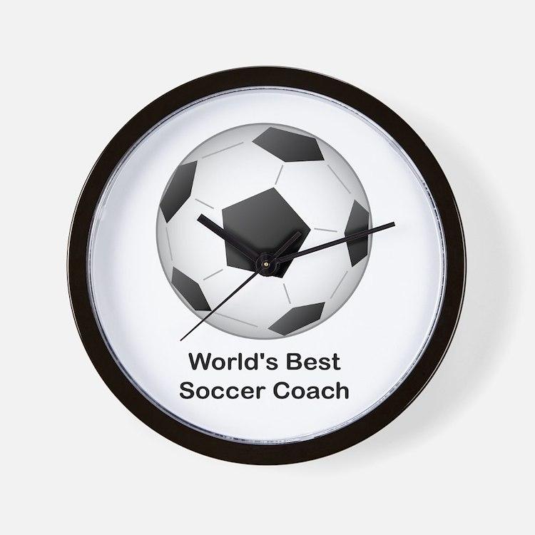World's Best Soccer Coach Wall Clock