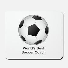 World's Best Soccer Coach Mousepad