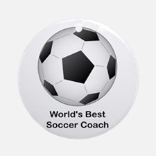World's Best Soccer Coach Ornament (Round)