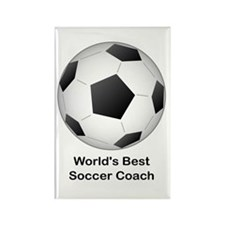 World's Best Soccer Coach Rectangle Magnet