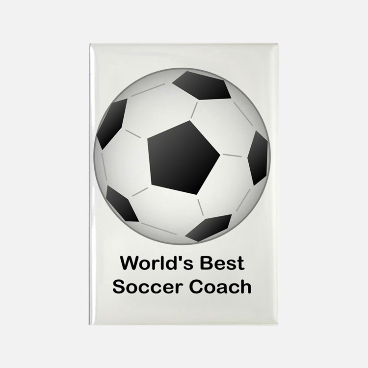 World's Best Soccer Coach Rectangle Magnet