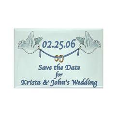 Wedding Save the Date Rectangle Magnet (100 pack)