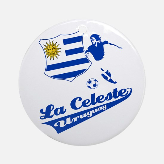 Uruguayan soccer Ornament (Round)