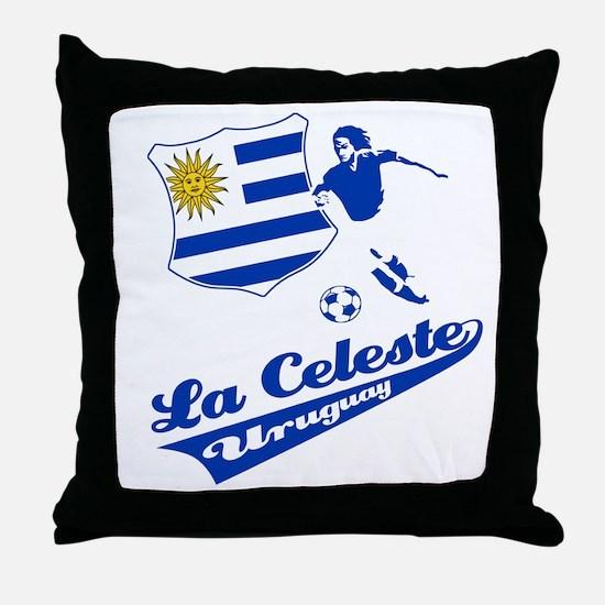 Uruguayan soccer Throw Pillow