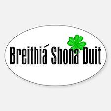 Happy Birthday in Irish Oval Decal