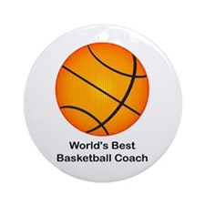 World's Best Basketball Coach Ornament (Round)