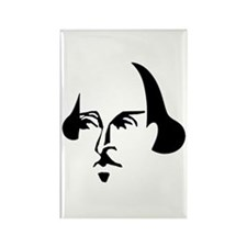 Simple Shakespeare Rectangle Magnet