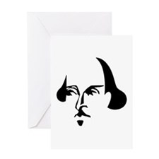 Simple Shakespeare Greeting Card