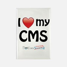 I Love My CMS Rectangle Magnet