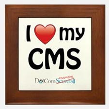 I Love My CMS Framed Tile
