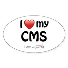I Love My CMS Decal