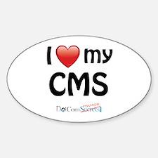 I Love My CMS Decal