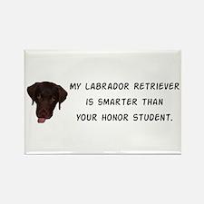 Smart Labrador Retriever Rectangle Magnet