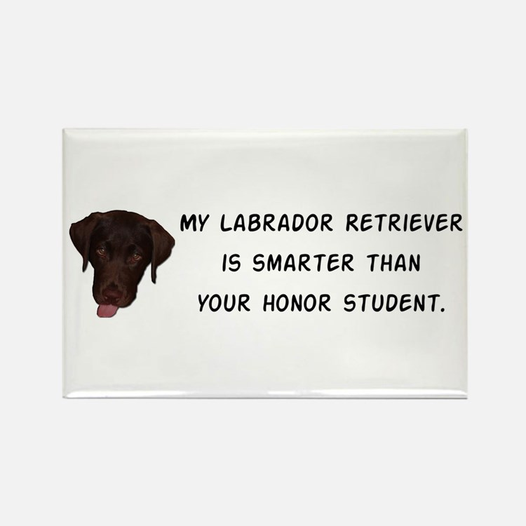 Smart Labrador Retriever Rectangle Magnet