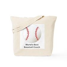 World's Best Baseball Coach Tote Bag