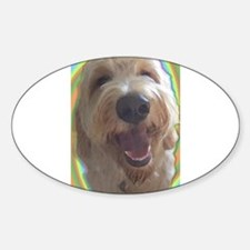 Dreamy Dog Oval Decal