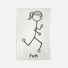 Running Girl Rectangle Magnet