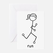 Running Girl Greeting Cards (Pk of 10)