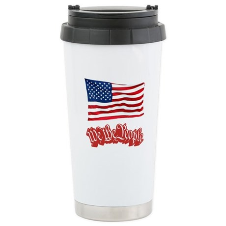 We The People w/Flag Stainless Steel Travel Mug
