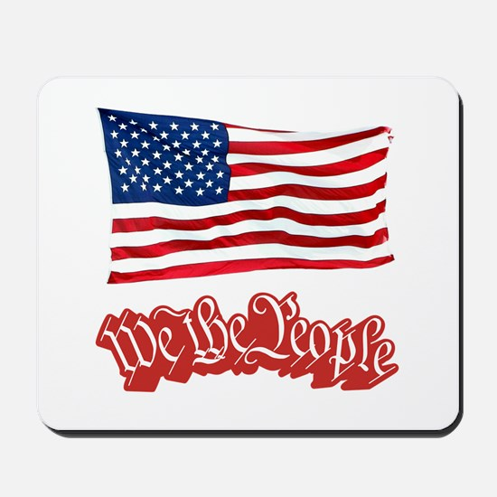 We The People w/Flag Mousepad