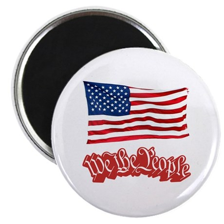 """We The People w/Flag 2.25"""" Magnet (100 pack)"""