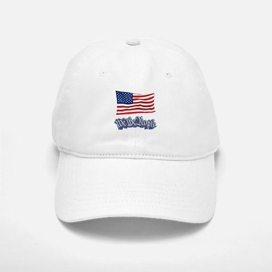 We The People w/Flag Baseball Baseball Cap
