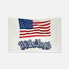 We The People w/Flag Rectangle Magnet
