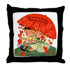Vintage Valentine Throw Pillow