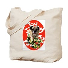 border terrier Christmas Tote Bag