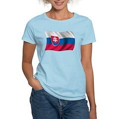 Wavy Slovakia Flag T-Shirt