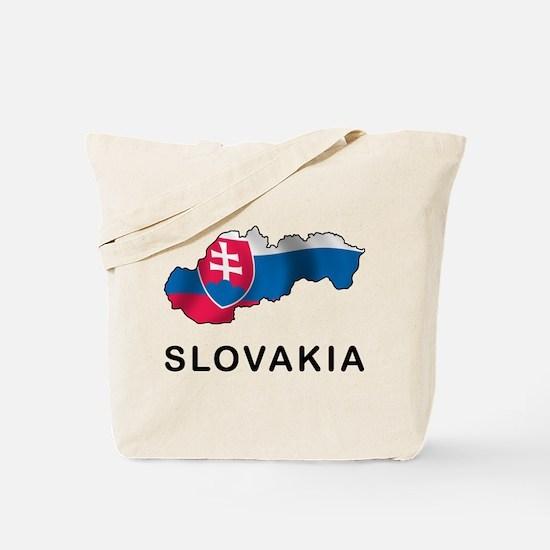 Map Of Slovakia Tote Bag