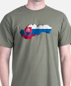 3D Map Of Slovakia T-Shirt