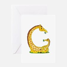 Animal Alphabet Giraffe Greeting Card