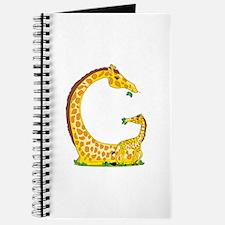 Animal Alphabet Giraffe Journal